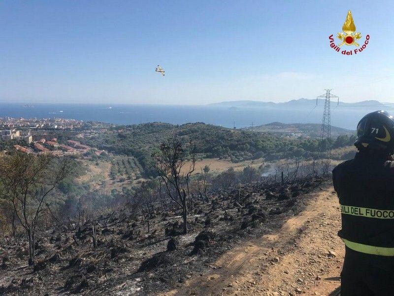 Incendio boschivo a Montemazzano