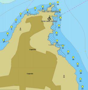 Isola di Capraia, il miglio blu
