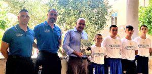 Karate i giovani atleti di Asd Esercito ricevuti dall'assessore allo sport di Lucca