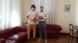 Salvetti riceve lo scalatore livornese Alessio Anguillesi