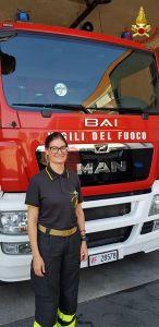 Vittoria è il primo funzionario donna dei vigili del fuoco di Livorno