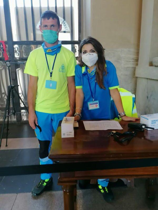 Due volontari della Misericordia di Palazzi in servizio presso i Musei Vaticani per 7 giorni