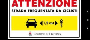 "Paola Giannotti e i cartelli ""salva ciclisti"". Oggi tappa livornese"