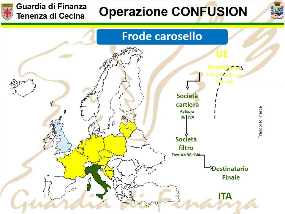 cartina geografica della frode confusion