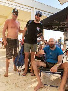 Giacomo Borghesi, Matteo Salandri e Massimiliano Mattei pronti per la trasferta di Bristol