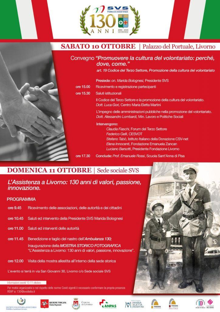 Il programma degli eventi per i 130 anni si SVS
