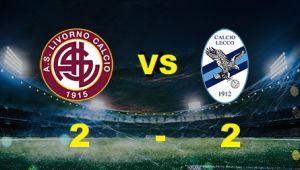 Livorno lecco 2 a 2