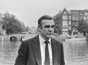 Sean Connery sul set di Agente 007 - Una cascata di diamanti (1971)