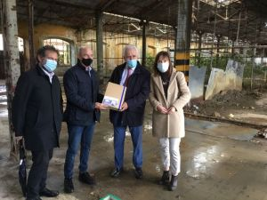 Nuovo Ospedale di Livorno, stamani il sopralluogo del presidente della Regione Toscana