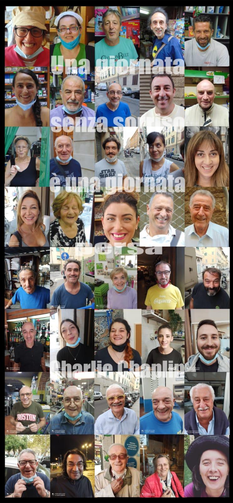 Streetart in Borgo, i sorrisi scomparsi dietro le mascherine riappaiono