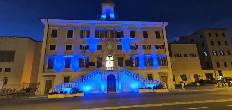 Giornata mondiale del diabete, i monumenti illuminati blu a Livorno