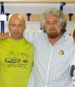 Andrea Morini assieme a Beppe Grillo