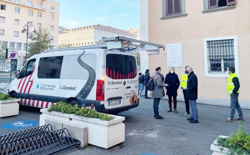 Buche stradali, presentato a Salvetti il veicolo che le individua e analizza