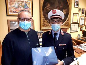 Cecina, Lippi Donate mascherine alle forze dell'ordine