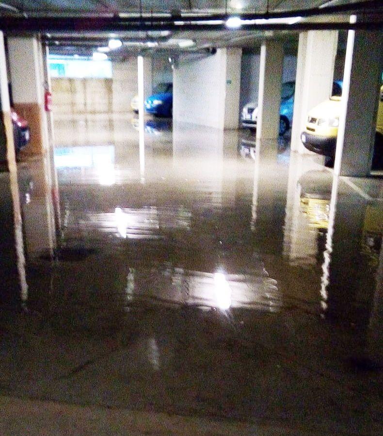 Nuove case ERP di via Bixio, i garage allagati