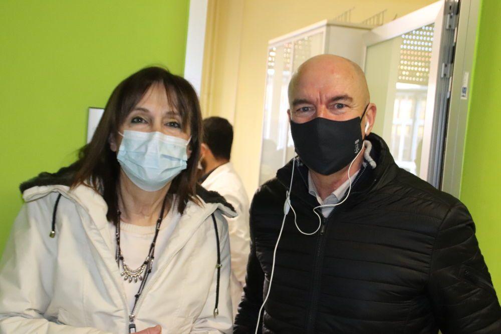 Vax Day, Maria Letizia Casani direttrice dell'Asl e Luca Salvetti