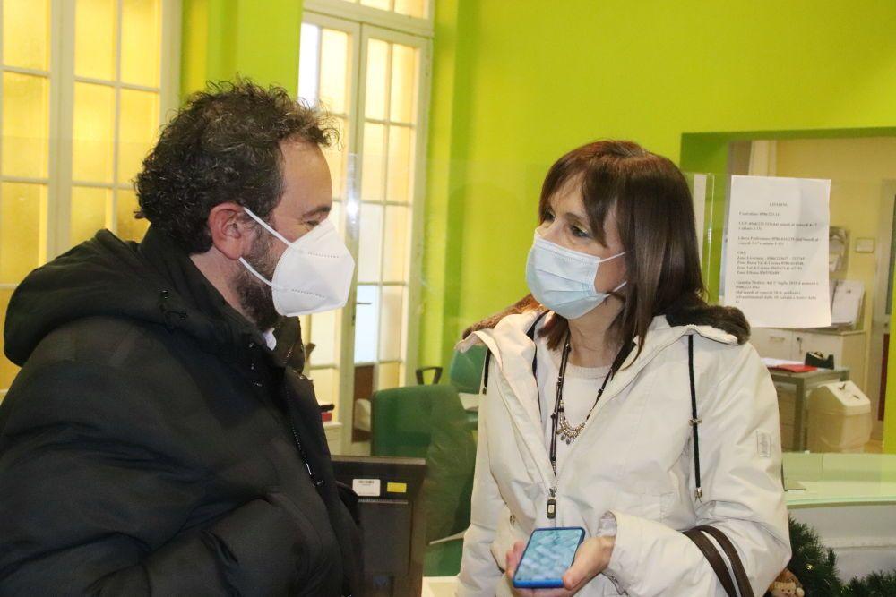 Vax Day, Maria Letizia Casani direttrice dell'Asl e il consigliere regionale Francesco Gazzetti