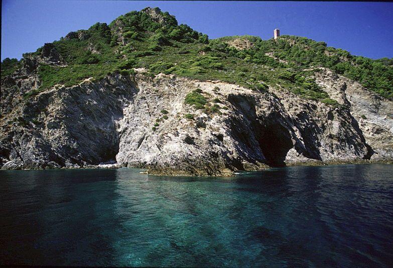 Gorgona dal mare. Foto archivio PNAT