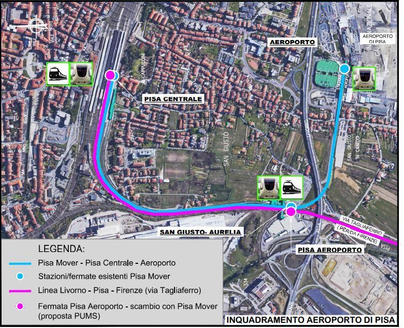 Livorno inserita in una area vasta tramite il tram treno