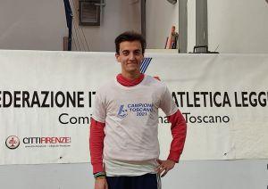 Andrea Vanchettiè campione toscano nei 60hs juniores con barriere a un metro