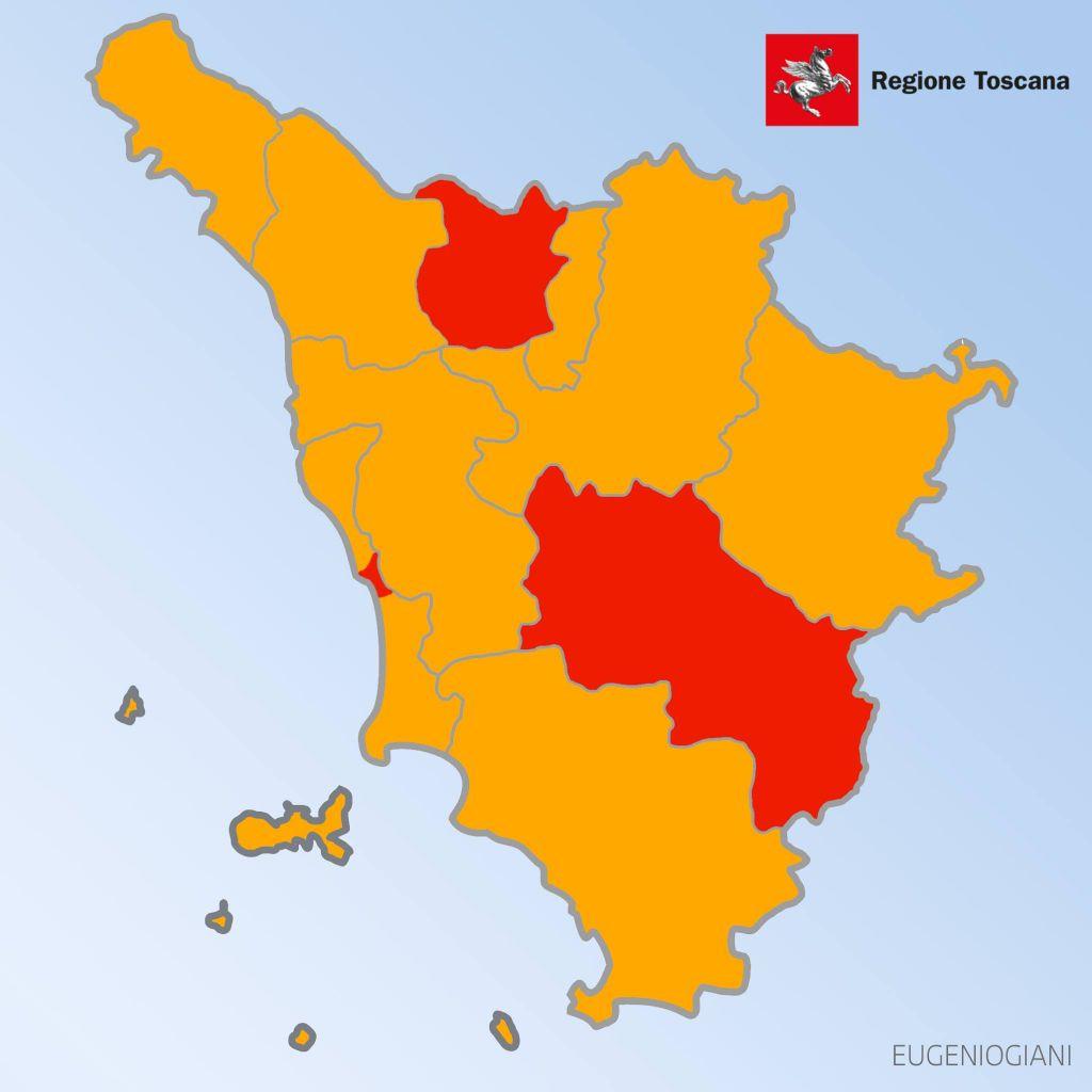 Toscana Fisica Cartina.Mappa Toscana