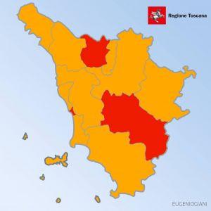 comuni toscani zona rossa mappa