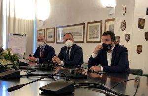 Porto e nuova Darsena Europa, incontro tra Stefano Corsini e Matteo Salvini