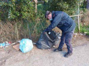 Elba - Rifiuti abbandonati, i molteplici gli interventi dei Carabinieri Forestali