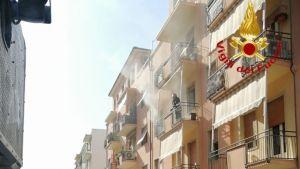 A fuoco appartamento in via Badaloni