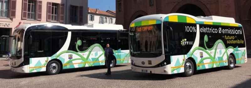 CTT presenta agli studenti il nuovo autobus elettrico in prova