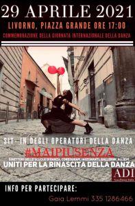 #MAIPIUSENZA, domani sit-in degli operatori della danza in piazza Grande