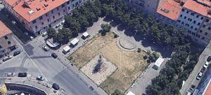 veduta dall'alto di piazza Garibaldi