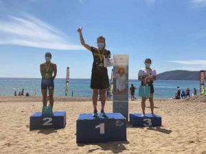 podio donne Iron Cross Tour Triathlon Elba, la seconda giornata