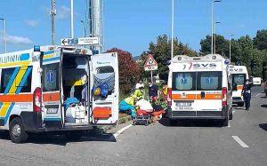 Incidente auto-scooter in via di Levante