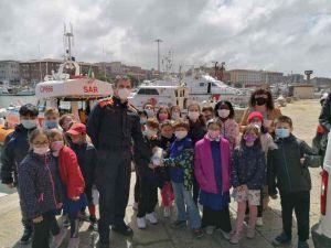alunni della scuola M. D'Azeglio di Livorno in visita alla Capitaneria di Porto