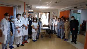 ospedale il passaggio della statua benedetta da Papa Francesco