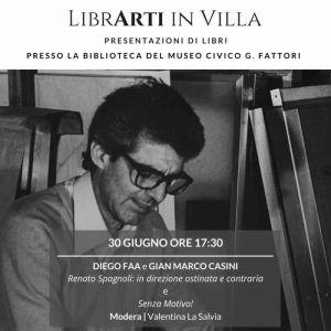 Libri, Renato Spagnoli è il secondo appuntamento con LibrArti in Villa