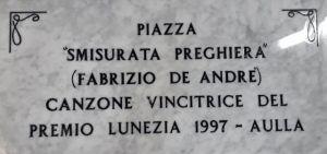 Musica - Ad Aulla si intitola una piazza ad una canzone di Fabrizio De André