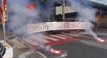 Ottima adesione al primo sciopero USB in Porto. Bloccato il varco Vallesini (3)