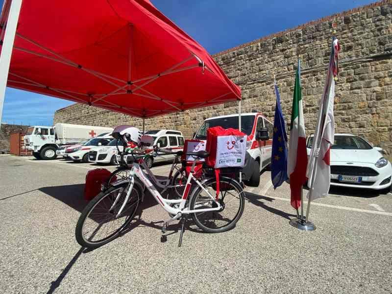 croce rossa inaugurazione bici elettriche