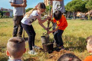 Inaugurazione interventi di forestazione al Parco Bmx a La Rosa