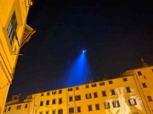movida l'elicottero della Questura che vigila dall'alto