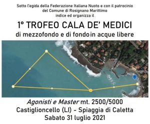 Nuoto, sabato il 1° trofeo Cala dé Medici a Caletta di Castiglioncello