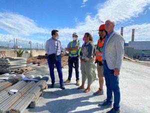 Salvetti e assessore Bonciani sul cantiere del Microtunnel in porto