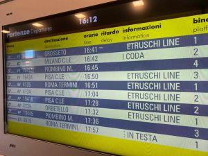 Servizi, vantaggi e sconti per i turisti che scelgono i treni della linea Etruschi-line di Trenitalia