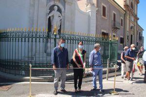 Taglio del nastro per il restauro del monumento a Leopoldo di Lorena