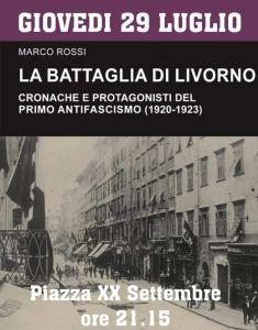 """Potere al Popolo presenta il libro di Rossi """"""""La battaglia di Livorno – cronache e protagonisti del primo antifascismo"""""""