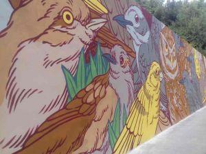 Animali e colori accesi per il murale al Bosco dei Cappuccini
