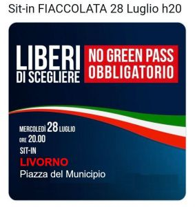 no green pass in piazza del municipio