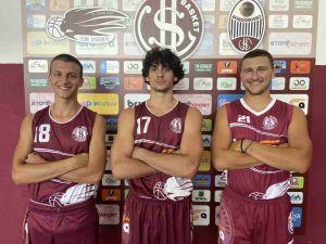 US Livorno Basket, in foto Vivone, Del Monte, Lulli